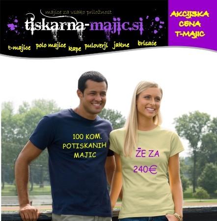 100 kom. ženskih majic s tiskom