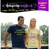 50 kom. ženskih majic s tiskom
